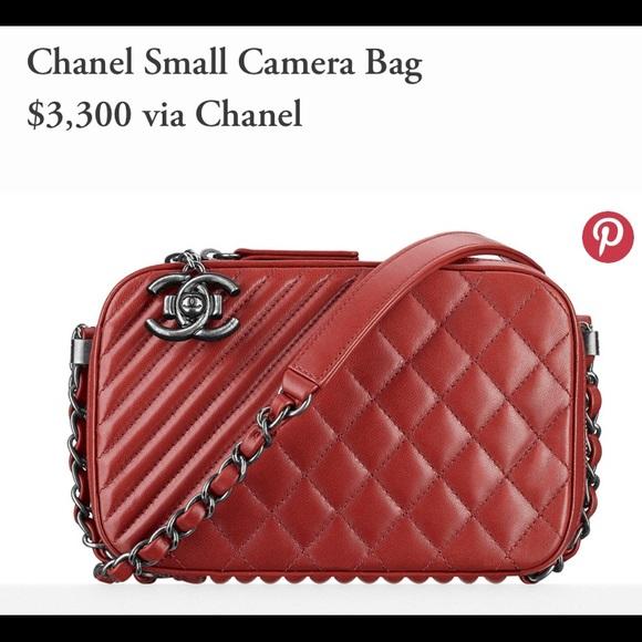 CHANEL Handbags - CHANEL Red Boy Camera Bag